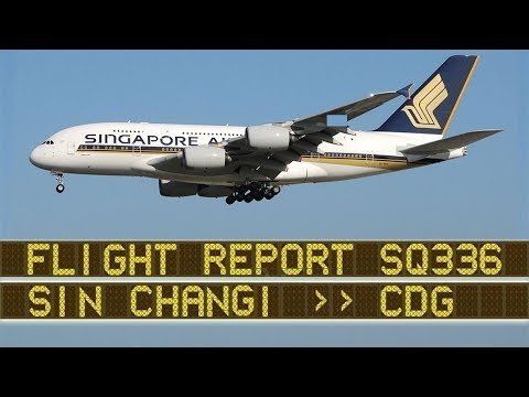 Singapore Airlines A380 Upper Deck | SIN-CDG in Business Class