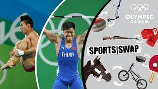 Diving vs. Weighlifting Can LГ Xiaojun amp Chen Aisen Switch Sports?  Sports Swap Challenge