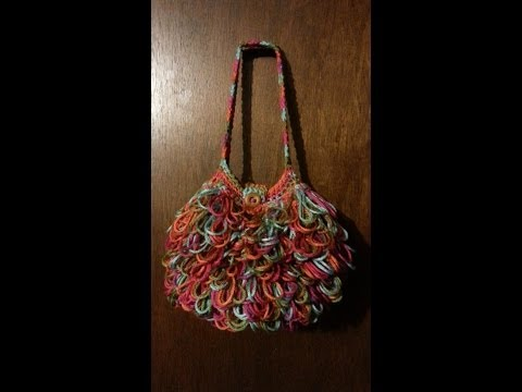 Crochet Bag Loopy  Handbag  Purse  Tutorial Crochet Purse Crochet Tutorial