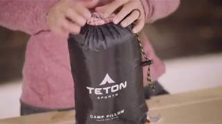 TETON Sports Camp Pillow Perfect for Anytime You Travel; Camping, Backpacking, Airplanes, Road Trips