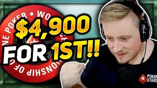 DEEP IN THE $5.50 WCOOP OMAHA/NO LIMIT HOLD 'EM!! PokerStaples Stream Highlights
