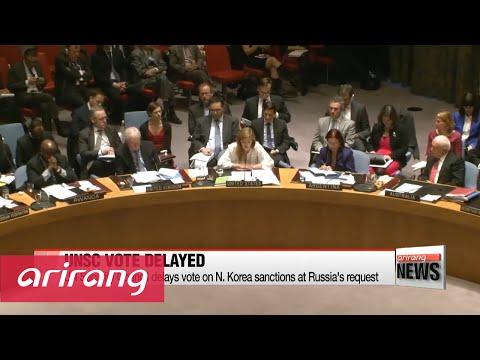 UN Security Council delays vote on N. Korea sanctions at Russia's request