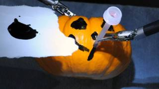 Seattle Doctor Paints Miniature Pumpkin Using da Vinci Robot