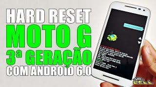 Hard Reset no Moto G 3ª Geração com Android 6.0 #UTICell