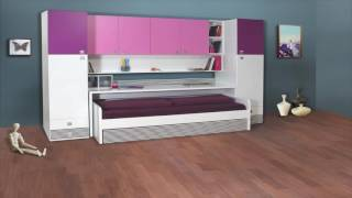 Multimo Space Saving Convertible Wall Bed Unit