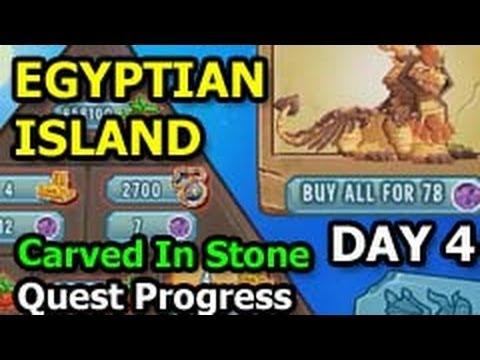 Dragon City EGYPTIAN ISLAND Carved In Stone Quest Progress Update DAY 4