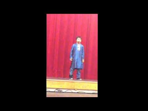 Rubin Jha Reciting Hindi Poem During Hindiusa Poem Competition In Stamford, Ct On Jan 17,2014 video