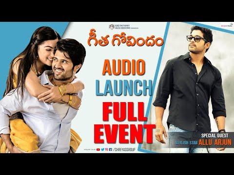 Geetha Govindam  Audio Launch Live || Chief Guest Allu Arjun || Vijay Deverakonda || Rashmika