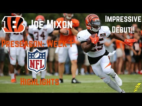 Joe Mixon Nfl Debut Preseason Week 1 Highlights