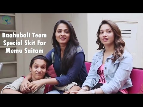 Baahubali Team Special Skit for Memu Saitam
