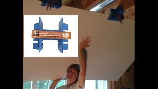 Drywall Installation Tool - An Easy, Better and Affordable Way to Hang Drywall by Yourself