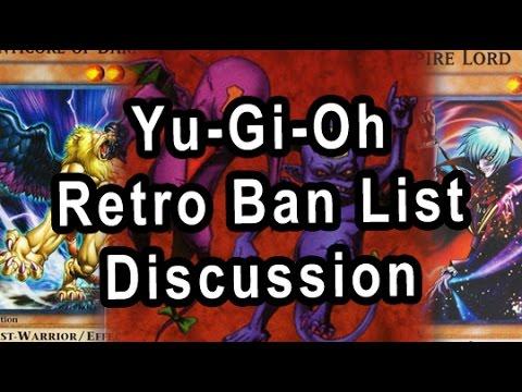 Yu-Gi-Oh Retro Ban List Discussion (AUG 2004)
