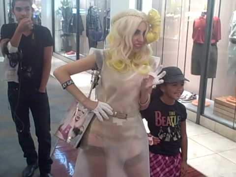SUPER HUGE LADY GAGA FAN Cypress Bay Lady Gaga Sawgrass Mills Mall - The People's Reaction! Week 5 Music Videos