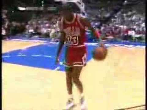 nba all star 1988, slam dunk Michael Jordan Video