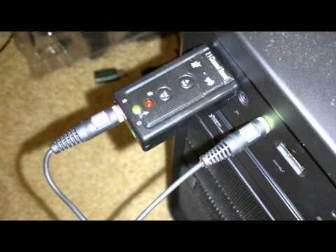 Sennheiser PC 230 mic demo & impressions (plus cheap eBay USB sound card info)