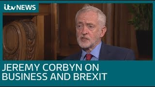 Jeremy Corbyn talks business and Brexit ahead of party conference | ITV News