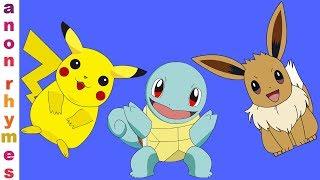 Nursery Rhymes & Kids Songs | Pikachu Finger Family Song | Finger Family Nursery Rhymes For Children