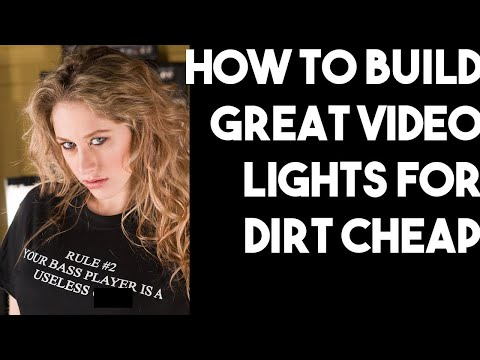How to build GREAT video LIGHTS for DIRT CHEAP