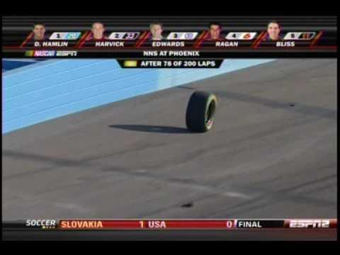 2009 Able Body Labor 200 - Steve Wallace Loses Tire Video