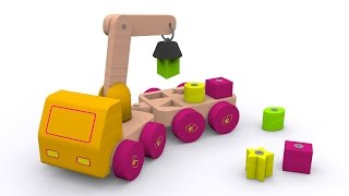 Shapes for babies toddlers kids children kindergarten. Learn shapes with a shape sorter truck
