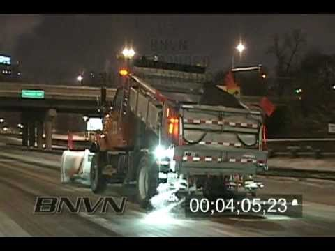 12/17/2008 Minneapolis, MN Winter storm travel hazard B-Roll
