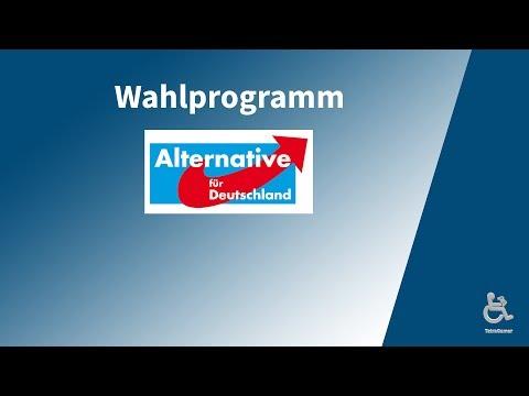 Wahlprogramm-Vorstellung  ►Alternative für Deutschland ( AfD )◀