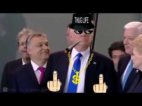Donald Trump PUSHES a NATO Leader//Дональд Трамп оттолкнул премьер-министра Черногории