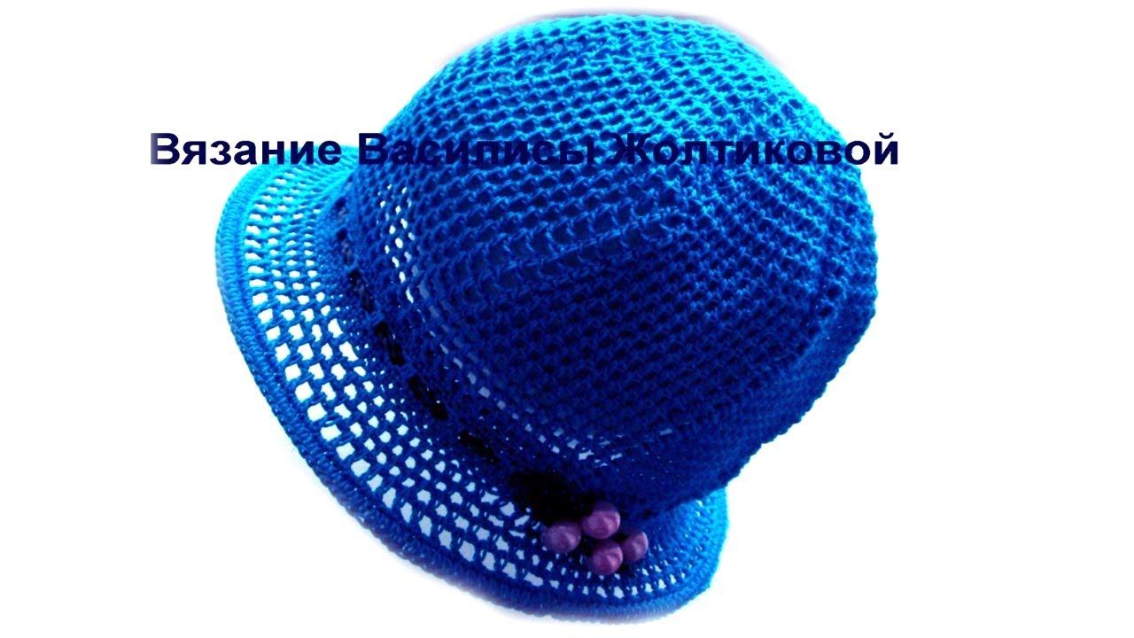 Вязание панамки крючком для женщин видеоурок
