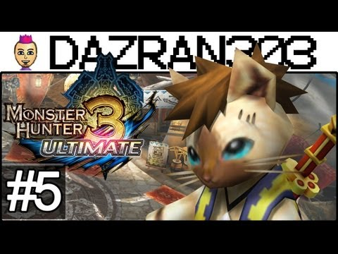 Monster Hunter 3 Ultimate - Let's Play Episode 5 - The Voyage To Tanzia - MH3U WiiU Gameplay Commentary Dazran303