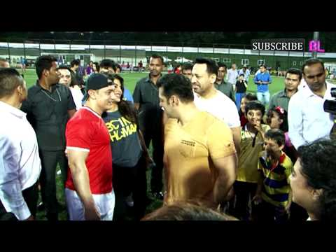 Charity Football Match With Aamir Khan and Salman Khan Part 1