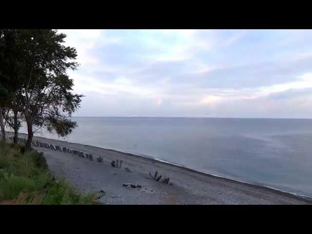Пляж поселка Чемитоквадже. Погода 25 августа t +25°C, вода t +27°С, SOCHI RUSSIA