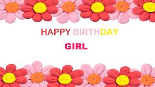 Girl   Birthday Postcards & Postales