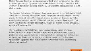 United States Emission Spectroscopy Equipment Sales Market Report 2021
