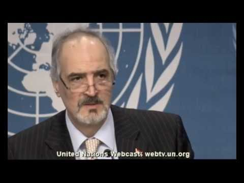 Syria: Bashar Ja'afari   Press Conference at Geneva Conference on Syria   January 20, 2014