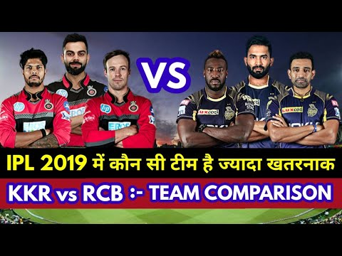 IPL 2019 : Kolkata Knight Riders vs Royal Challengers Banglore Honest Team Comparison || KKR vs RCB