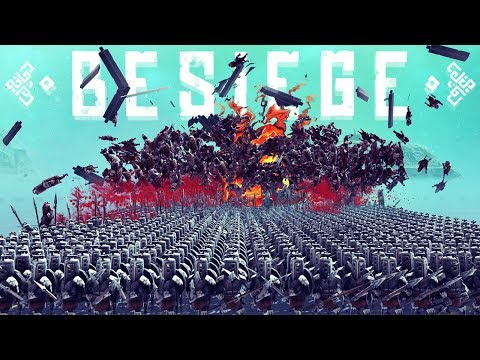 1000 Man Army Vs Explosives - The Best Tank Design in Besiege - Besiege Best Creations