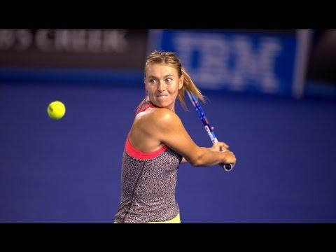 Majestic Maria: Sharapova's first hit - Australian Open 2015