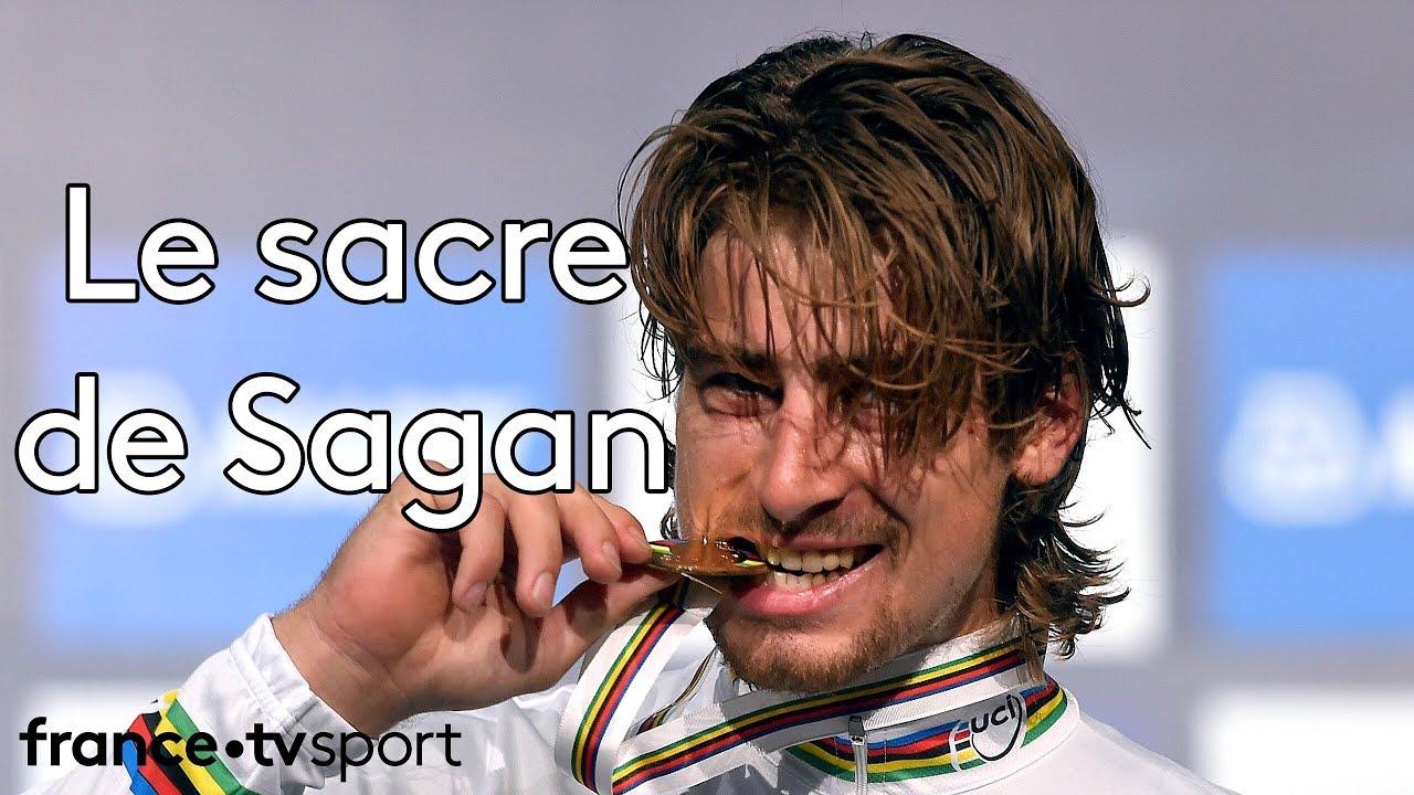 Peter Sagan est devenu dimanche champion de la course-en-ligne sur le tracé de Richmond, aux Etats-Unis. Sorti du peloton à moins de 3 kilomètres de l'arrivé...