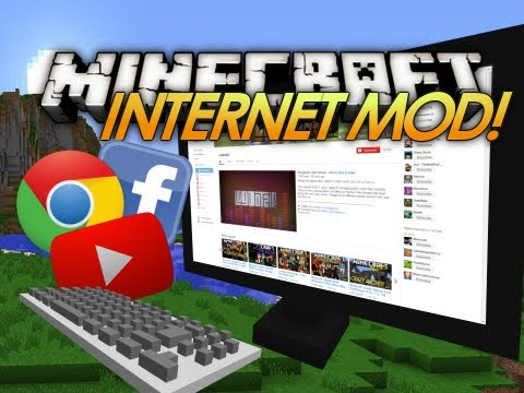 Minecraft Mod Showcase: INTERNET IN MINECRAFT! Web Display Mod (Review)