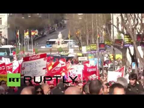 Spain: Hundreds march against austerity policies in Madrid
