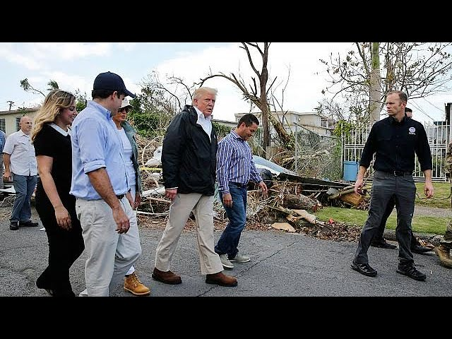 Trump praises US help for stricken Puerto Rico