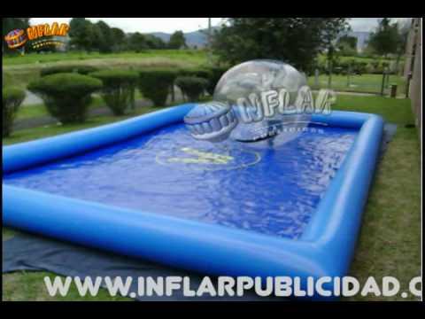 Inflables infantiles de agua sellados walking ball piscina for Piscina de agua