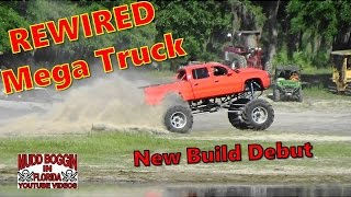 REWIRED ..Mega Truck ..New Build..1st Test-n-Tune..at the mud bog.