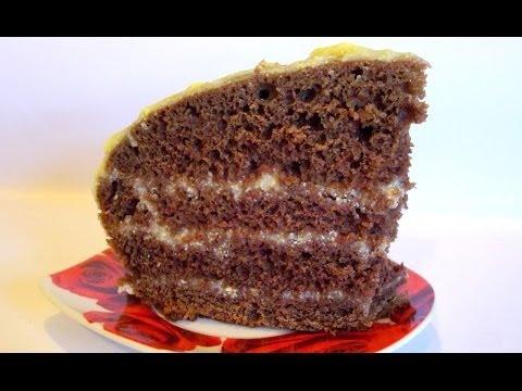 Бисквитный Торт с Заварным Кремом «Спасательный» кулинарный видео рецепт