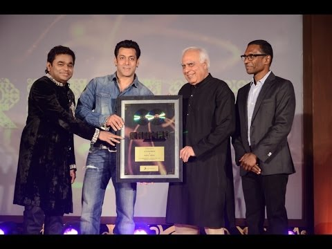 Exclusive video of A.R. Rahman & Kabil Sibal's album 'Raunaq' launched by superstar Salman Khan