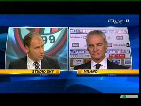 Roma Milan 2-1 - Intervista a Claudio Ranieri nel post partita sky