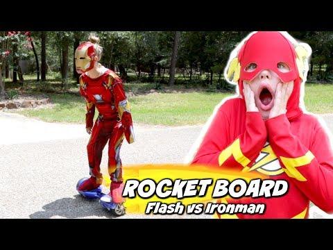 The Rocket Board: Flash vs Ironman Race Pranks Edition