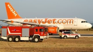 Awesome EasyJet A319 Rejected Take Off at Split Airport SPU-LDSP !
