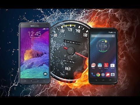 Samsung Galaxy Note 4 VS Droid TURBO (rendimiento)