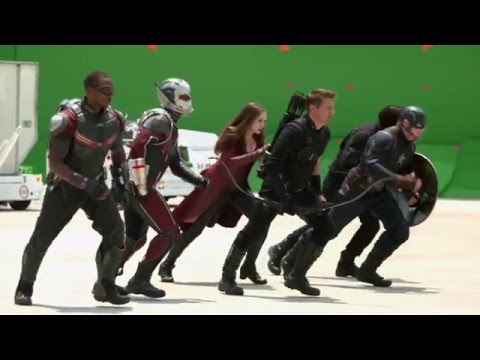 New 'CAPTAIN AMERICA: CIVIL WAR' Behind-The-Scenes Footage